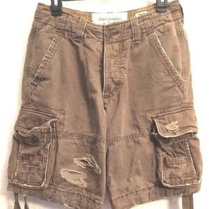 Abercrombie & Fitch distressed cargo shorts 28